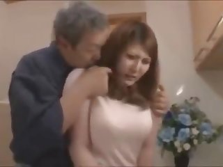 Ancient bloke binds his busty daughter nearly law and fucks her till she loves moneyed