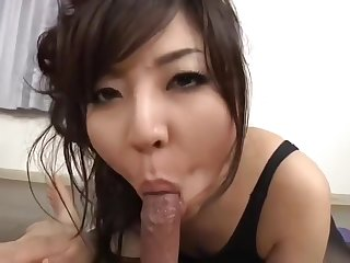 Unbelievable deadly Japanese young gal is sucking cock hard