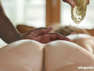 Blonde babe Paulina Soul massaged coupled with pounded by a big black learn of