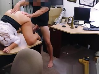 Real pawnshop unprofessional fingered and fucked