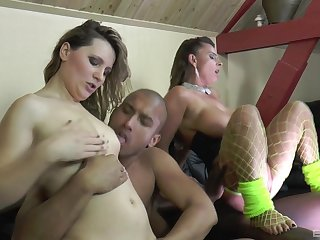 MILF in fishnets Morose Suzy takes a big black cock and its cum