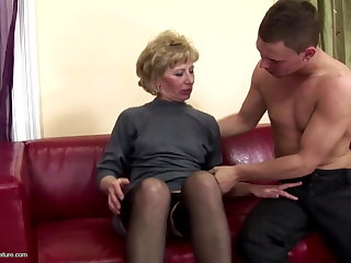Hairy mature maw ass fucked and pissed exposed to