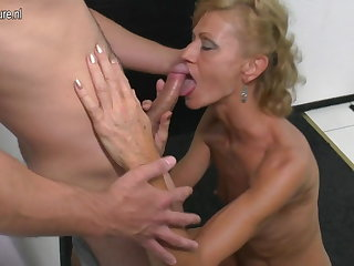 Son licks and fucks hot mature not his mommy