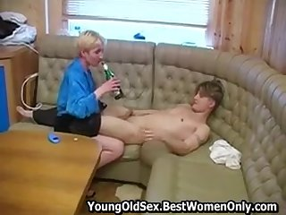 Russian Cougar Give Snug Boobs Fuck Drunk Young Person