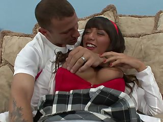 Samora Morgan in a huge dick ride and sad blowjob step