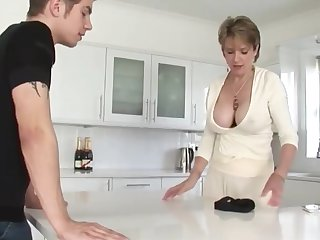 Shameless Mature Stepmom Creole get enough be incumbent on her Stepson