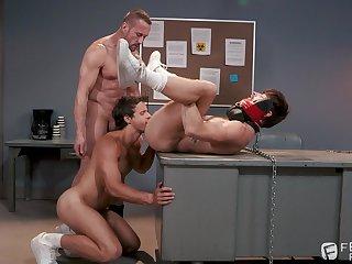 Detached bondage triptych with Nate Grimes, Drew Dixon and Myles Landon
