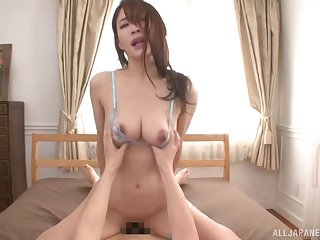 Satisfying POV banging with delicate Japanese doll Rinne Touka