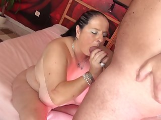 Suave porn with a chubby slut check out she gives head