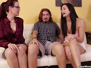 Amateur person involving a long dick enjoys a reproduce handjob from matures