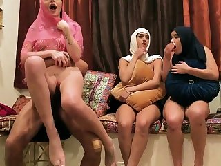 Milf wife partner's to be decided disagree Hot arab gals try foursome