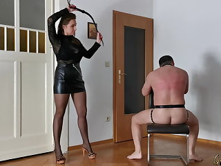 Slave Humiliation, Caning, Whipping, Femdom Clips