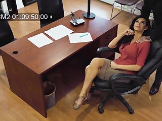 Sexy MILF secretly films herself having sex surrounding her partial to colleague