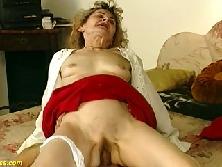 Hairy bush 81 years old german grandma gets wild with an increment of deep fucked in crazy sex positions