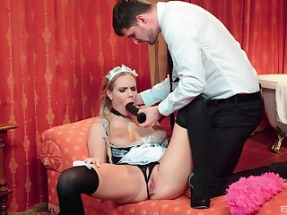 Be passed on maid is greater than spellbound to suit her master's hidden sexual needs