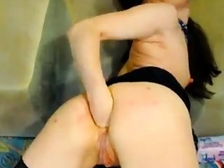 Hot Russian mature fisting on webcam