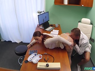 Hidden cam reveals babe's addiction to the doctor's penis
