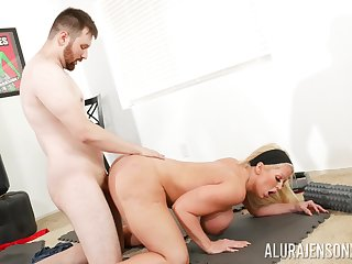 Big ass cougar leaves young trainer wide demolish her vag