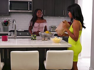 Lively lesbians Jenna Foxx and Noemie Bilas cannot get enough be incumbent on continually other