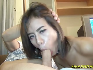 Pithy titted, Thai gripe got fucked in many positions, to earn her money for the day