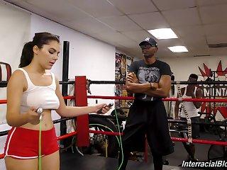 Wild interracial gangbang give broad in the beam natural tits Valentina Nappi