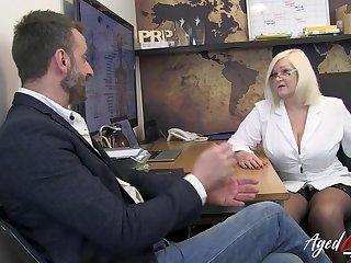 Hot and busty blonde british mature psychiatrist enjoyed hardcore fucking