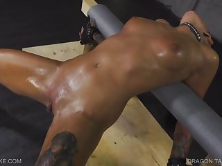 Unusual blackness lesbian got tied up and forced to cum in every way her Mistress could imagine