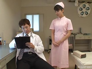 Kinky fucking between doctor and sexy Japanese nurse Aoi Mizutani