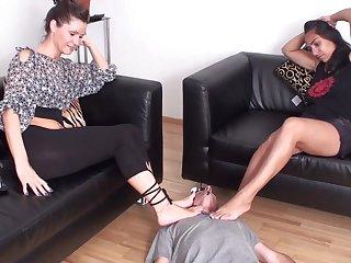 Amulet femdom feet smelling compilation