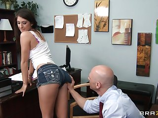 Natural tits wife Karina White fucked off out of one's mind her handsome doctor