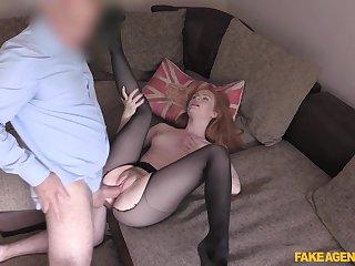 Young redhead Ella Hughes shines not later than hot casting fuck