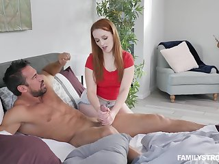 Naughty with the addition of pretty pale redhead Cleo Clementine loves at most oral sport