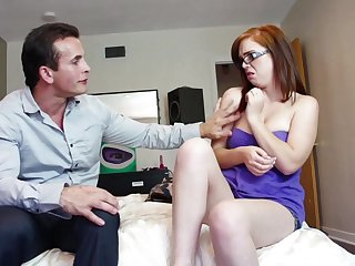 Nerdy amateur is in for a treat approximately step papa