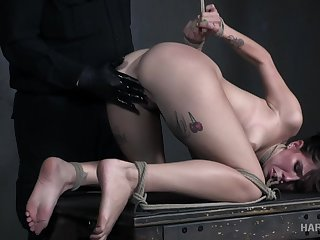 Decayed bent over and in every direction uncover grumble Isabel Moon gets the brush slit masturbated