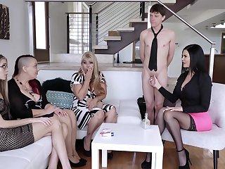 Big tits, Blonde, Brunette, Fingering, Lesbian, Milf, Mom, Office, Pornstar, Stockings, Young