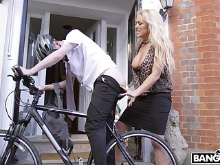 Younger amateur pauper with a large detect fucks provocative Rebecca Jane