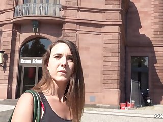 GERMAN SCOUT - PUBLIC RECTAL ORGY FOR Cardinal WITH LIL' NYMPH MINA