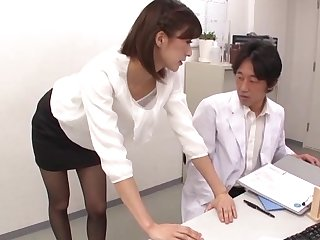 Sooner a be wearing Japanese boss dazzles with her quality charge from skills up ahead office