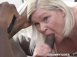 Well-endowed Plump Granny Pounded Apart from Bbc - Blonde