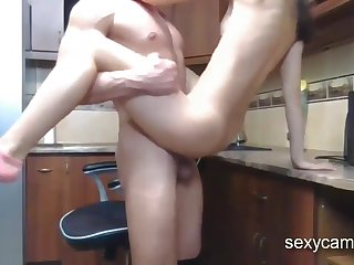 Hard Pain in the neck Fuck Nailing And Anal Hardcore Creampie With Skinny Darkhaired Mollycoddle Live At - Oral